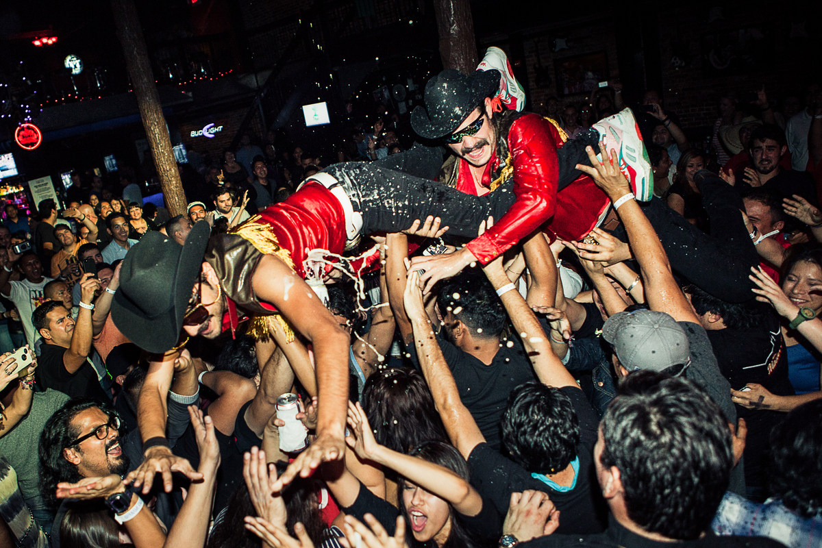 Los Master Plus perform during Red Bull Panamerika Wazzup tour stop in Dallas